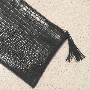 Ellen Tracy Black Makeup Bag with Tassel